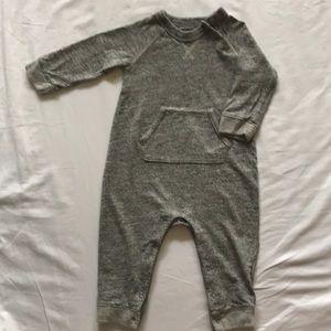 Baby Gap Heather Gray knit onesie